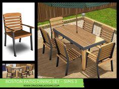 Boston Patio Dining Set - Sims 3 Buy Mode - Dragon Black Sims