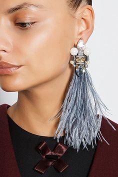 Feather Earrings, Beaded Earrings, Statement Earrings, Earrings Handmade, Beaded Jewelry, Beaded Bracelets, Big Earrings, Fantasy Jewelry, Necklace Designs