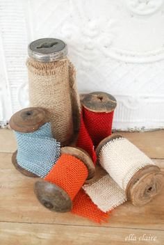 How to Make Burlap Ribbon the Cheap and Easy Way #DIY #CRAFTS