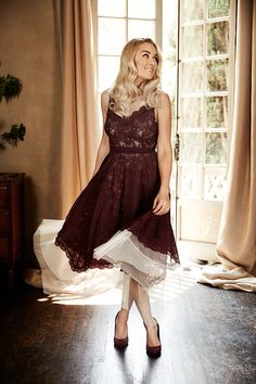Lace Midi Dress, LC Lauren Conrad Runway Collection- Credit: Lauren Conrad Official