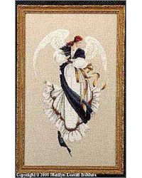 Lavender & Lace counted cross stitch pattern 'angel of Hope'