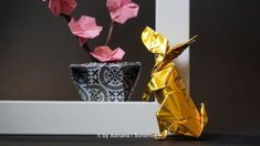 Adventures of the Golden Origami: Easter Bunny! Origami Animals, Origami Art, Easter Bunny, Decor, Decoration, Decorating, Deco
