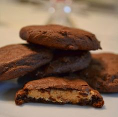 Peanut Butter Stuffed Cookies . . . they're like Reese Peanut Butter Cups in cookie form :)