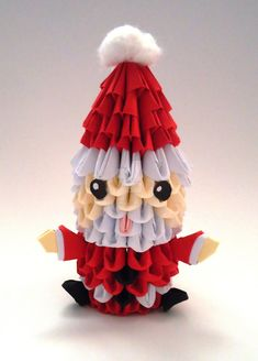 Origami 3D Santa Claus by IDEAndo-art on DeviantArt