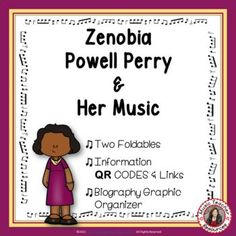 Introduce your young music students to female composer Zenobia Powell Perry and her music. This is an excellent addition to your Listening lessons! This resource contains: - TWO different FOLDABLES in BOTH COLOR AND B/W. - This foldable is a perfect accompaniment to foldable 1, or can be used on its own to respond to Zenobia Powell Perry's music during a listening lesson #mtr #musicteacher #musiced #musiceducation #musicteacherresources
