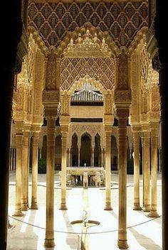 Court of the Lions, The Alhambra, Sabika hill, Granada, Spain begun 1238  (Photo: Jim Gordon)
