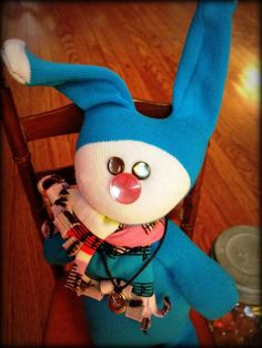 Hand+Sewn+Sock+Doll++Frazey++Bunny+for+boys+by+backporchproject,+$15.00