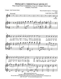 Primary Christmas Medley (by Judy Checketts Hatch -- Primary Children/Primary Solo) Primary Songs, Primary Singing Time, Lds Primary, Primary Lessons, Primary Activities, Church Activities, Ward Christmas Party, Christmas Program, Christmas Medley