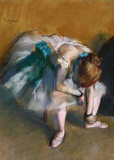 Edgar Degas, Waiting (detail), ca. 1882 (x)