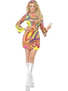 60u0027s Flower Power Costume Multi-Coloured with Dress and Head Scarf · Funny Adult CostumesFemale Costumes80s ...  sc 1 st  Pinterest & The 24 best 60s fancy dress images on Pinterest | Fancy dress Fancy ...