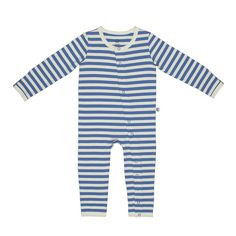 bamboo sapphire and natural all in one baby pajama