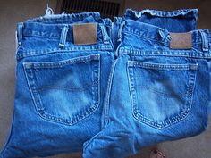 Lee Jeans Mens 38 x 32 Denim Regular 2 Pair Lot Blue