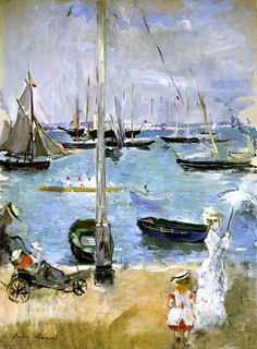 I usually put realistic art work at the top of my list, but this is so cheery! West Cowes Berthe Morisot - 1875