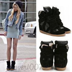 Wedge Sneaker with Dress