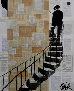 "Saatchi Art Artist Loui Jover; Drawing, ""stairs"""
