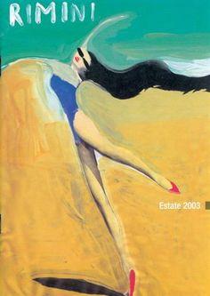Rimini 2003  Danza marina. Illustrazione di Gianluigi Toccafondo per la pubblicità della stagione.
