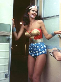 Lynda Carter @Sarah Leathley- the pics of her are always at her trailer lol @sarah breedlove And we know why too