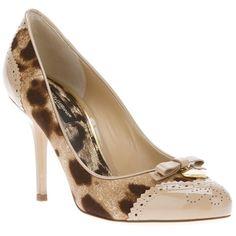 DOLCE & GABBANA leopard print pump ($665) ❤ liked on Polyvore