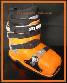 Ski Boot This was one huge cake! Thanks for looking!