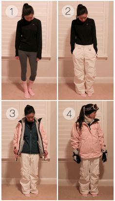 Skiing/Snowboarding Outfit Ideas - What to Wear to the slopes in California!