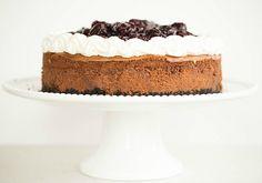 Black Forest Cheesecake by @browneyedbaker :: www.browneyedbaker.com