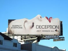 Nice Outdoor Ads for Deception a TV Show by NBC