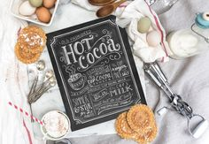 Hot Cocoa Sign  Hot Cocoa Bar  Chalk Art  Chalkboard par LilyandVal