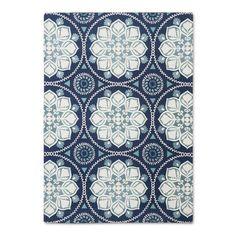 Multicolor Classic Woven Area Rug - (7'X10'), Blue Multicolored