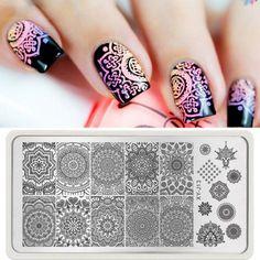 1 Sheet Manicure Template Nail Art Image Stamping Retro Print Plate Stamper Tips #ebay #Fashion