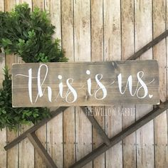 This is Us Family Decor Gallery Wall Sign by TheWillowRabbit