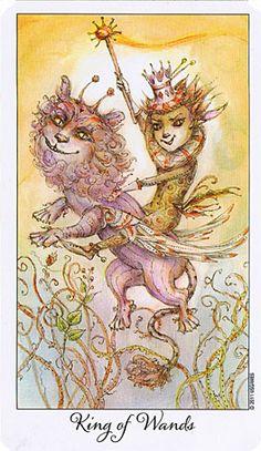 JOIE DE VIVRE TAROT DECK - King of Wands   Sent by Judy.  Nov.6/13