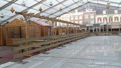 Opbouw mobile ijsbaan Sittard. 2015