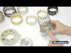 Collection of must see tutorials if you want to learn more about this tool and how to use it. Beadalon Bangle Weaving Tool and Tutorials ~ The Beading Gem's Journal