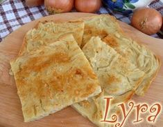 Schiacciatina di cipolle Finger Foods, Buffet, Bread, Vegetables, Cooking, Ethnic Recipes, Pane Pizza, Collage, Cookies