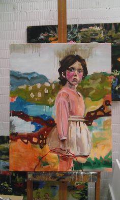Acrylics on canvas by Heidi Nuyts 100 x 80