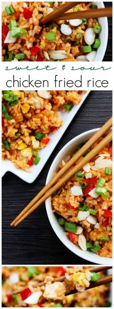 Sweet & Sour Chicken Fried Rice - 30 minute meal that is better than take-out. MealsWithMinute AD