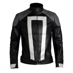 "28c4601e5a0290 Ghost Rider Leather Jacket Agents Of Shield Season 4 Robbie Reyes Biker  Jackets  Inspired from  American television series ""Agents of Shield"" Worn  by  ..."