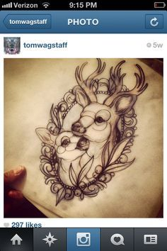 cute deer tattoo designs - Google Search