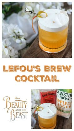 LeFou's Brew Cocktail – Beauty and the Beast-Inspired Cocktail LeFou's Brew Cocktail – Beauty and the Beast-Inspired Cocktail – Cocktails and Pretty Drinks Disney Inspired Food, Disney Food, Walt Disney, Disney Recipes, Cocktail And Mocktail, Cocktail Recipes, Drink Recipes, Juice Recipes, Disney Cocktails