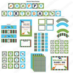 Can't find the link for the dino printables, but this site has an awesome free set of planning printables