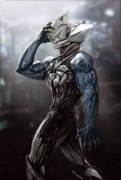 Cyborg Character Design by reau Cyberpunk, Epic Art, Character Design, Character Art, Sci Fi Art, Cyberpunk Art, Cyborg, Art, Creature Design