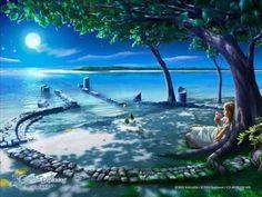 High resolution fantasy desktop wallpaper of Kagaya Celestial Exploring Serenity (ID: Fantasy Landscape, Fantasy Art, Fantasy World, Fantasy Dragon, Art Visionnaire, Good Night Image, Visionary Art, Belle Photo, Beautiful Images
