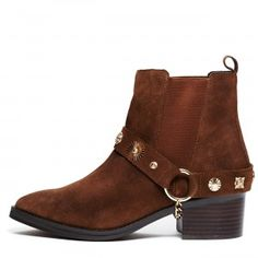 new concept e5ede 0e5a7 Wild Wild West · E8  Odel  chelsea boot with harness  amp  western  hardware, brown Festival Boots