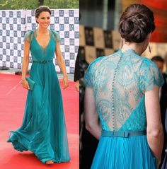Kate Middleton in Jenny Packham - BOA Olympic Concert -- Love the dress and her hair!
