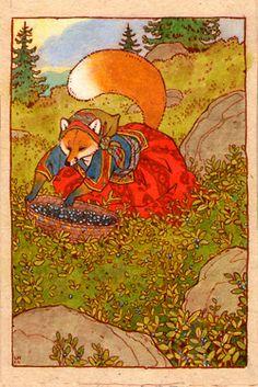 fox woman -- fairy tale -- illustration