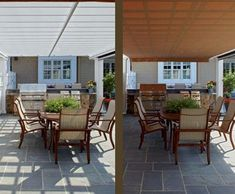 Cellular PVC Pergola Outdoor Kitchen Detail | Pergolas from Walpole Woodworkers