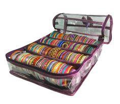 4 Rods Bangle Box Bracelet Bag Travel Organizer Jewelry Case- Non Woven