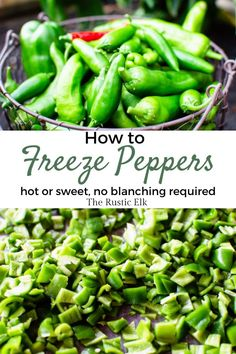 Have a bumper crop of peppers? Learn how easy it is to freeze peppers from the garden. Whether you want to freeze whole hot peppers or slice up bell peppers, this is one of the easiest home preserving projects you'll ever try. Freezing Vegetables, Freezing Fruit, Preserving Zucchini, Preserving Food, Freeze Peppers, Dehydrator Recipes, Homemade Sauce, Easy Meal Prep, Stuffed Sweet Peppers
