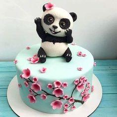Panda Birthday Cake, 32 Birthday, Pretty Birthday Cakes, Realistic Cakes, Ocean Cakes, Panda Cakes, Cake Designs Images, Animal Cakes, Cake Decorating Tips