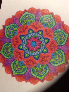 ColorIt Mandalas to Color Volume 1 Colorist: Barbara Reynolds #adultcoloring #coloringforadults #mandalas #mandala #coloringpages